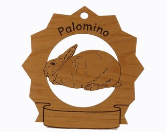 Palomino Rabbit  Personalized Wood Ornament