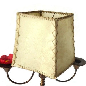 Amazing Vintage Leather Lamp Shade ,leather Lampshade