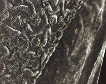 Art Deco Black silk velvet cape