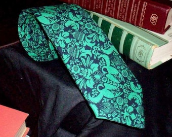 Madd Aynts Casual Ties (Black and Kelly Green Tie) Faithlyn Melvage Designs