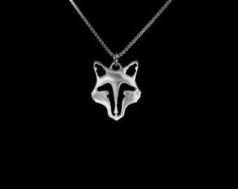 Horse Fox Mask Necklace, Equestrian Fox Mask Necklace, Fox Mask Necklace, Fox Hunting Necklace, Horse Fox Necklace, Equestrian Necklace, Fox
