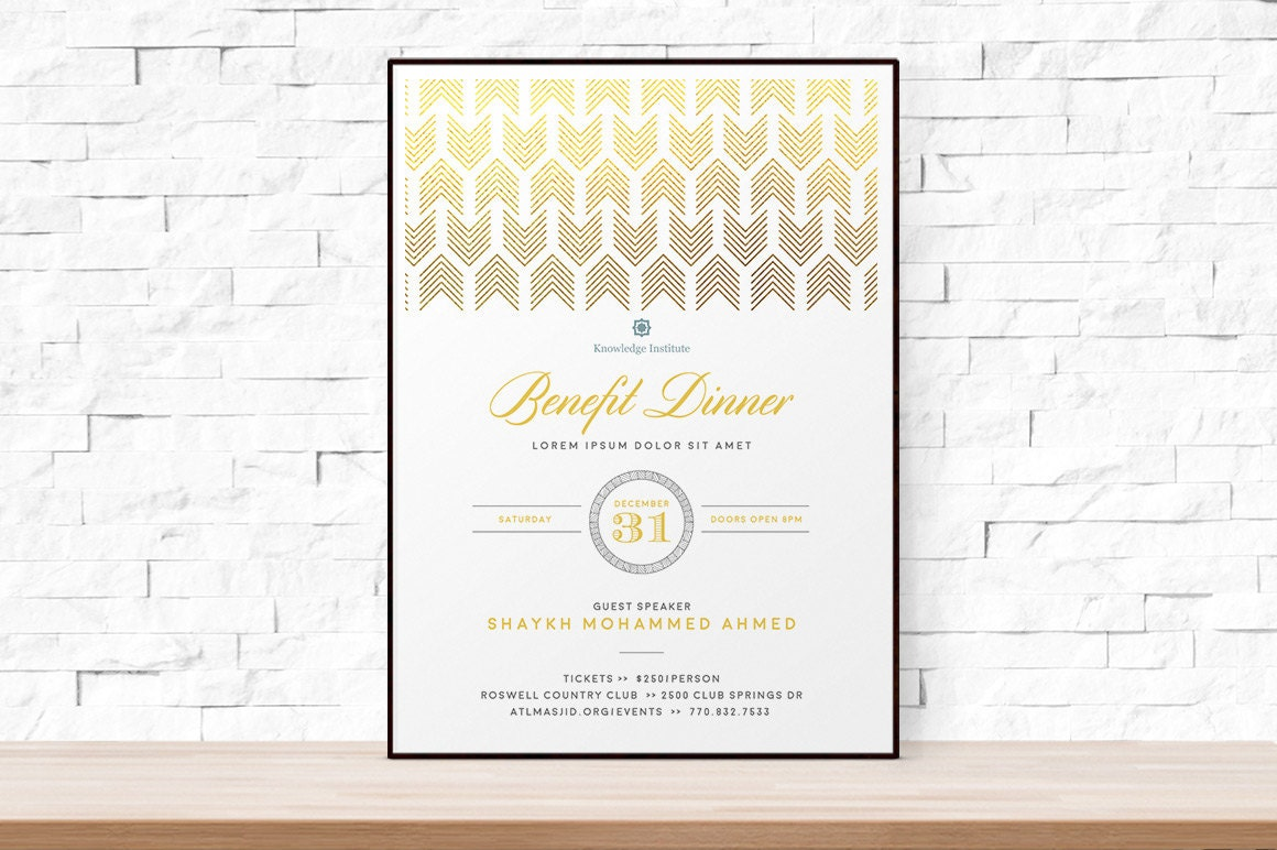 benefit dinner flyer template