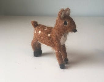Needle felted Waldorf fawn - deer - wool - decoration - toy - gift