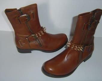 Brown Biker Boots