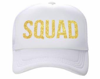 Squad Trucker Hat, Squad Hat, Squad, Trucker Hat, Womens Trucker Hat, Custom Trucker Hat, Bachelorette Hat