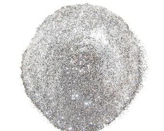 Silver Glitter, SOLVENT RESISTANT, Glitter, 0.008 Hex, Glitter Nail Art , Glitter Nail Polish, Glitter Crafts, Silver, Silver Nail Glitter