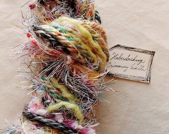 Urbane Babe charcoal honey rainbow pom trim twine Novelty Fiber Yarn Sampler Bundle