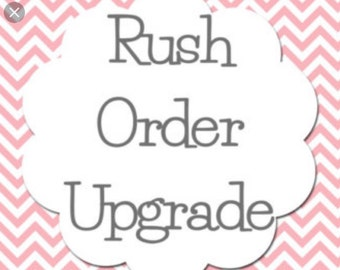 Rush Order, Upgrade, Fast Order Processing, Upgrade Order, Fast Processing, Rush Order Processing