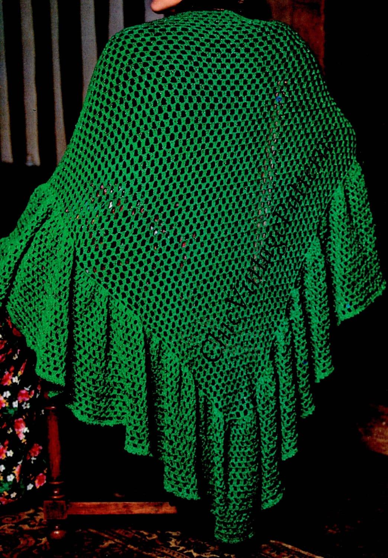 Crochet Shawl ... Crochet Wrap with Frill Trim ... Superb Triangular ...