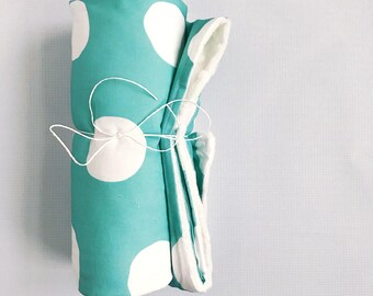 Gros point Aqua Baby Blanket