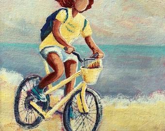 Gloria Goes Biking