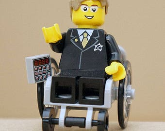 Stephen Hawking/physicist of cosmology, General Theory of Relativity & the physics of black holes-exclusive Lego minifigure