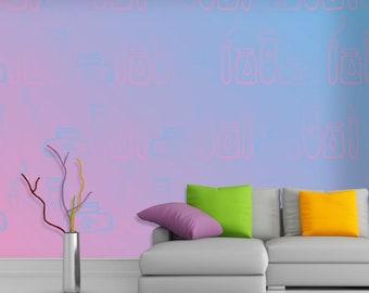 Self-adhesive wallpaper-Boho-vials-yellow BUS