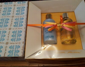 Vintage Elizabeth Arden Blue Grass Perfume Set..