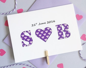 Personalised Couple's Initial Card