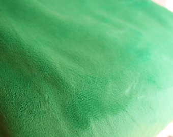Green Minky Fabric - Uncut