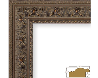 "Craig Frames, 11x17 Inch Antique Mahogany Picture Frame, Medici 1.5"" Wide (95351117)"
