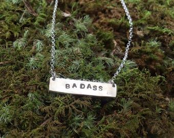 Badass Bar Necklace