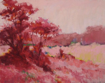 Sumac In Rose Original Pastel 16x20