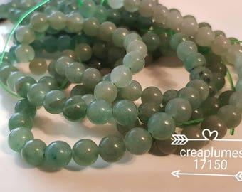 Set of 10 beads natural aventurine 8mm
