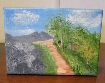 Small Oil Painting/Mountain Path