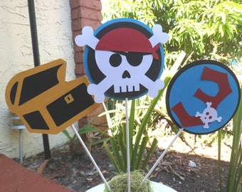Pirate Party Centerpieces, set of 3