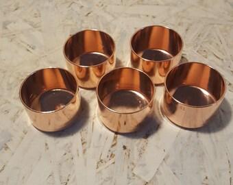 Copper Tea Light Holder x 5