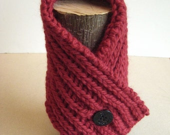 Knitting Pattern Neck Warmer Fisherman's Rib