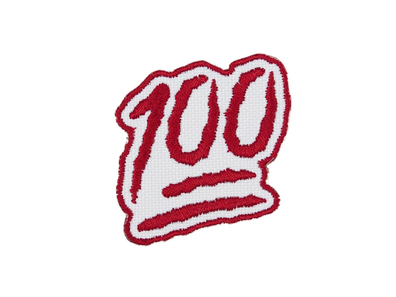 100 points one hundred emoji embroidered iron on patch free zoom buycottarizona