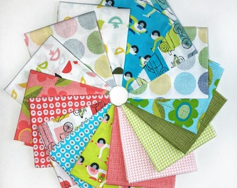 Monaluna Organic Fabrics Havana Collection Sixteen Piece Fat Quarter Yard Bundle