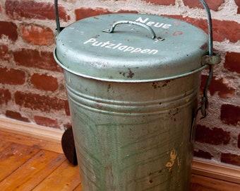 1 x dustbin bin bucket of sheet metal