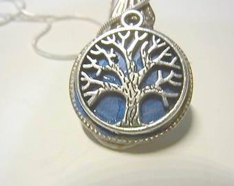 Pendant, cutlery, spoon handle, tree of life necklace