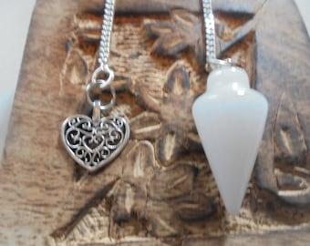 White Agate dowsing pendulum