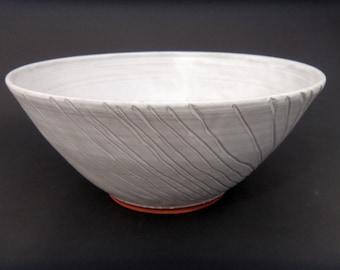 Pottery Centerpiece - Large Serving Bowl - Deep Ceramic Terracotta Decorative  Bowl