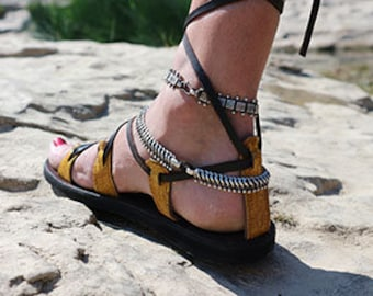 sandal Spartan rider # fish leather