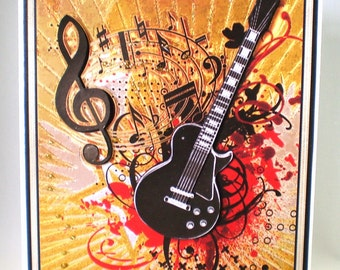 3D Guitar Birthday Card,16th,18th,21st,Personalise