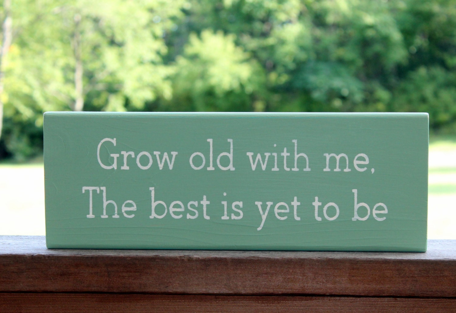 Grow old with me the best is yet to be wood sign wedding zoom junglespirit Gallery
