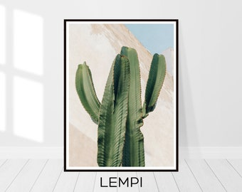 Cactus Print, Cactus Art, Nature Art, Botanical Print, Plant Print, Cactus Photo, Cacti, Desert Photo, Southwestern Decor, Printable Art