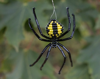 Marvelous Black U0026 Yellow Garden Beaded Spider