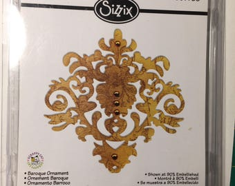 Cutting Die, Sizzix, Destash, Baroque Ornament, Sizzlets Large, Used