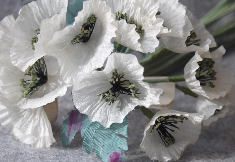 Vintage 50s Little white flower bouquet,Antique flowers bouquet,silk ...