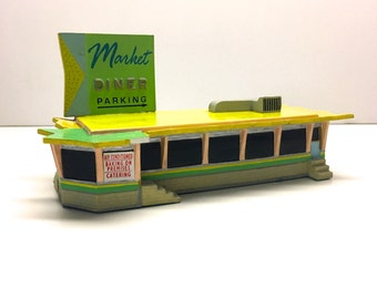 "Vintage Model ""The Market Diner"" from The Lefton's Company Roadside USA Collection - 1993"