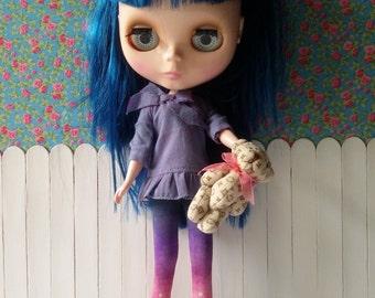 Beige Teddy bear for Blythe and Dolls
