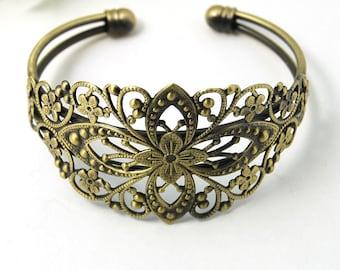 M* - Antique Bronze Cuff Bracelets  (123-2018)
