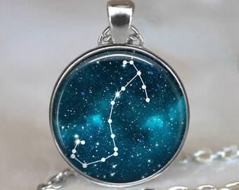 Scorpio Constellation necklace, Scorpio necklace Scorpio pendant Constellation jewelry Zodiac jewelry astrology necklace key chain key ring