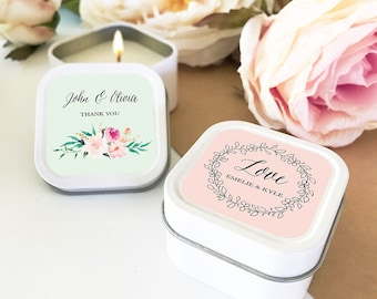 Candle favors Etsy