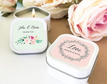 Bridal shower favor etsy bridal shower favors personalized candles wedding favors bridal shower candle favors eb2077gdn 12 junglespirit Gallery