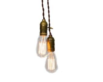 Simply Modern Vintage Double Pendant Light