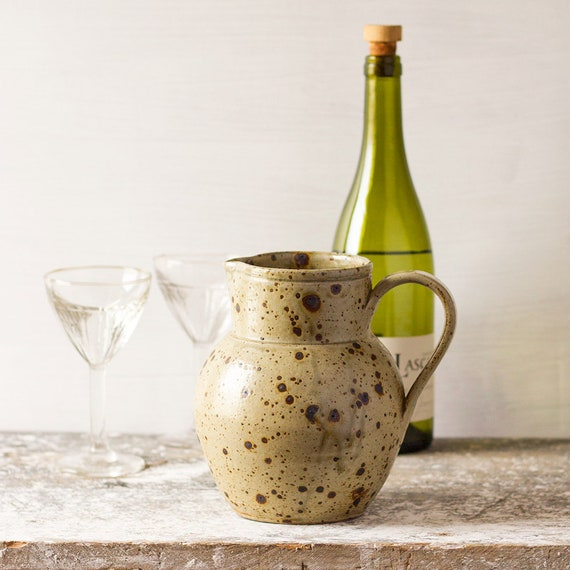 Provencal Earthenware Wine Pitcher