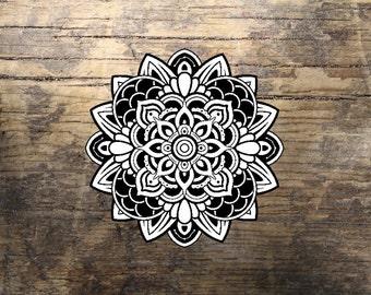 Mandala Tattoo - Black Mandala, Henna Mandala, Temporary Tattoo